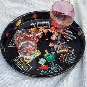 Vintage 1960's beverage tray